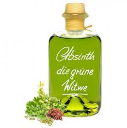 Absinth Die Grüne Witwe 0,5L Testurteil SEHR GUT(1,4) Maximal erlaubter Thujongehalt 35mg/L 55% Vol - 1