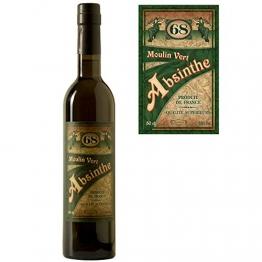 Absinth Moulin Vert aus Frankreich   Original Rezeptur   68% Vol.   Premium Qualität mit Weinalkohol destilliert   (1x 0.5 l) - 1