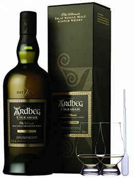 Ardbeg Uigeadail Islay Single Malt Whisky 0,7 Liter + 2 Glencairn Gläser - 1