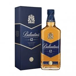 Ballantines 12 Blended Scotch Whisky – 12 Jahre alter milder Blend aus schottischen Malt & Grain Whiskys – Mit Honig-, Fruchtaromen & Gewürznoten – 1 x 0,7 L - 1