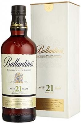 Ballantines 21 Blended Scotch Whisky – 21 Jahre alter reichhaltiger Blend mit würzigen Aromen, perfekt abgestimmten Rauchnoten & Fruchtnuancen – 1 x 0,7 L - 1