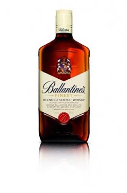 Ballantines Finest Blended Scotch Whisky – Milder Blend aus schottischen Malt & Grain Whiskys – Mit zartem Geschmack, ausgereiftem Aroma & frischem Abgang – 1 x 1 L - 1