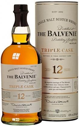 Balvenie 12 Years Old Triple Cask mit Geschenkverpackung Whisky (1 x 1 l) - 1
