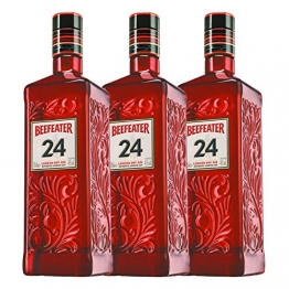 Beefeater Gin 24 3er Set, London Dry Gin, Schnaps, Spirituose, Alkohol, Flasche, 45%, 3 x 700 ml - 1