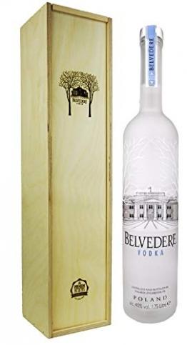 Belvedere Wodka 1,75l in Premium-Rum Holzbox - Premium Vodka aus Polen - 1