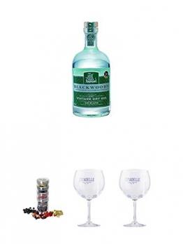 Blackwoods Vintage Dry Gin 40% 0,7 Liter + Gin Flight Gewürze zum Verfeinern von Gin Tonic 1er Pack 1 x 12 Gramm + Citadelle Ballon GIN Glas 1 Stück + Citadelle Ballon GIN Glas 1 Stück - 1