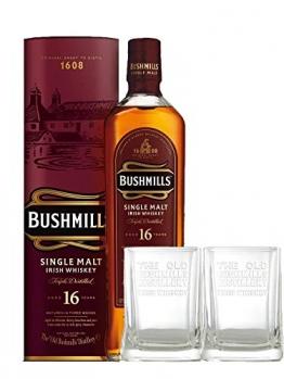 Bushmills 16 Jahre Single Malt Irish Whiskey + 2 Gläser 0,7 L - 1