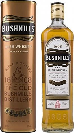 Bushmills Smooth & Mellow Irish Triple Distilled mit Geschenkverpackung Whisky (1 x 0.7 l) - 1