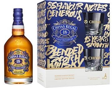 Chivas Regal 18 Jahre Geschenkset mit 2 Tumblern 0,7 Liter 40% Vol. - 1