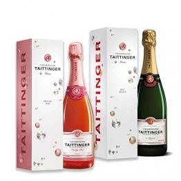 Exklusive Champagner im Geschenkset (Taittinger 2x0,75l) - 1