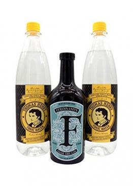 Ferdinand's Gin 1x 0,5L (44% Vol.) & 2x Thomas Henry Tonic Water 1,0L PET   Gin & Tonic Set - 1