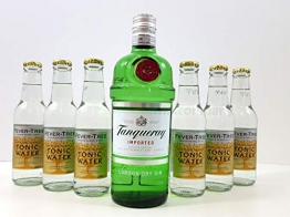 Gin Tonic Set ? Tanqueray London Dry Gin 0,7l 700ml (47,3% Vol) + 6x Fever-Tree Tonic Water 200ml - Inkl. Pfand MEHRWEG - 1