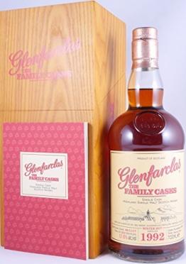 Glenfarclas 1992 25 Years The Family Casks Sherry Butt Cask 2901 Highland Single Malt Scotch Whisky Cask Strength 57,6% Vol. - eine von 524 Flaschen! - 1