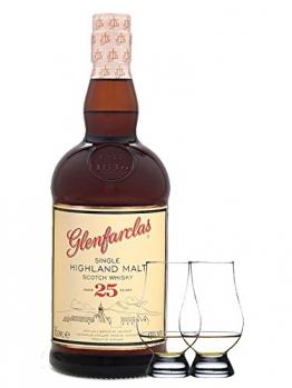 Glenfarclas 25 Jahre Single Malt Whisky 0,7 Liter + 2 Glencairn Gläser - 1