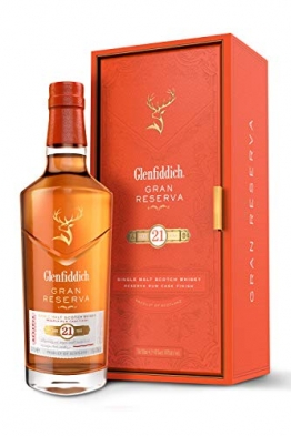 Glenfiddich Single Malt Scotch Whisky Reserva 21 Jahre mit Geschenkverpackung (1 x 0,7 l) – besondere Variante des meistverkauften Malt Sctoch Whisky der Welt - 1
