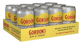 Gordon's London Dry Gin & Tonic Water Mix-Getränk, EINWEG (12 x 0.33 l) - 1