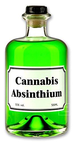 Grüner Cannabis Absinth (0,5l) Absinthe mit Cannabis Aromen verfeinert - Love, Peace & Harmony 55% vol. - 1