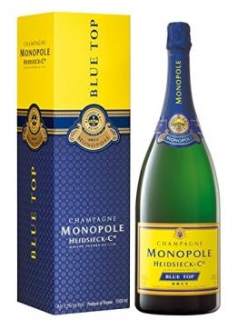 Heidsieck Monopole Blue Top Brut Magnum in Geschenkverpackung Champagner (1 x 1.5 l) - 1