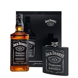 Jack Daniel's Hip Flask - Flachmann Geschenkset (1 x0,7 Liter) - 1