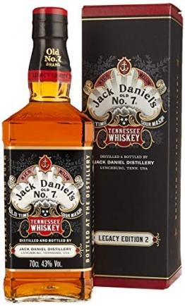 Jack Daniel's Legacy Edition 1905 - No 2 - limititierte Sonderedition in der Geschenkbox - Tennessee Whiskey - 43% Vol. (1 x 0.7l) - 1