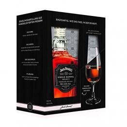 Jack Daniel's Single Barrel Geschenkset mit original Jeff Arnett Nosing-Glas - limitiert Whisky (1 x 0.7 l) - 1