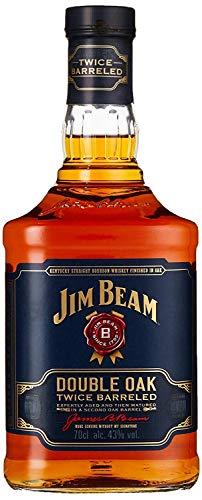 Jim Beam Double Oak - Twice Barreled Bourbon Whiskey, zweifach gereift in ausgeflammten Weißeichenfässern, 43% Vol, 1 x 0,7l - 1