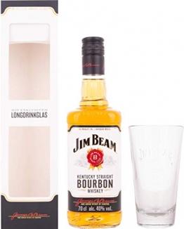 Jim Beam Kentucky Straight Bourbon Whiskey mit Geschenkverpackung mit Glas (1 x 0.7 l) - 1