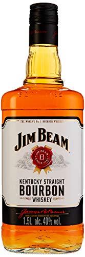Jim Beam White Kentucky Straight Bourbon Whiskey, vollmundiger und milder Geschmack, 40% Vol, 1 x 1,5l - 1