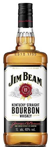 Jim Beam White Kentucky Straight Bourbon Whiskey, vollmundiger und milder Geschmack, 40% Vol, 1 x 1l - 1