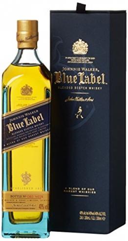 Johnnie Walker Blue Label Scotch mit Geschenkverpackung Whisky (1 x 0.2 l) - 1
