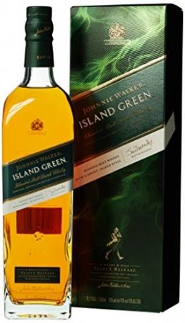 Johnnie Walker ISLAND GREEN Blended Malt Scotch Whisky Select Release mit Geschenkverpackung (1 x 1 l) - 1