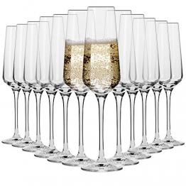 KROSNO Sektgläser Champagner-Gläser Sektflöten | Set von 12 | 180 ML | Avant-Garde Kollektion | Proseccogläser | Perfekt für zu Hause Restaurants und Partys | Spülmaschinenfest und Mikrowellengeeignet - 1