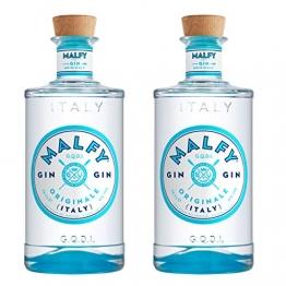 Malfy Gin Originale 2er Set, italienischer Gin, Alkohol, Schnaps, Flasche, 41%, 2 x 700 ml - 1