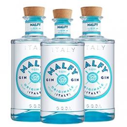 Malfy Gin Originale 3er Set, italienischer Gin, Alkohol, Schnaps, Flasche, 41%, 3 x 700 ml - 1