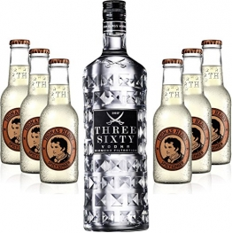 Moscow Mule Set - Three Sixty Vodka 70cl (37,5% Vol) + 6x Thomas Henry Spicy Ginger 200ml - 1