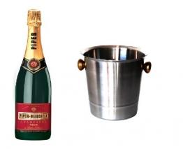 Piper Heidsieck Champagner Brut im Champagner Kühler 12% 0,75l Flasche - 1
