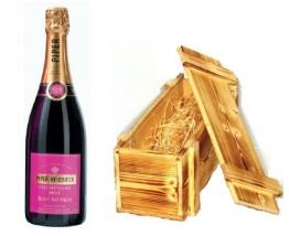 Piper Heidsieck Rosé Sauvage in Holzkiste geflammt 12% 0,75l Flasche - 1