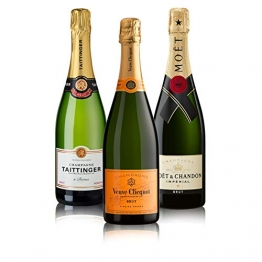 "Probierpaket ""Champagner 3er""  Champagnerpaket mit drei verschiedenen Champagner (3 x 0,75 l)   Ideales Champagner Tasting-Set - 1"