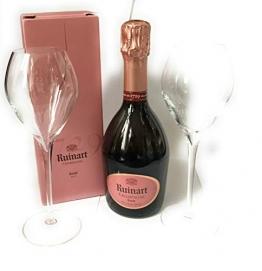 Ruinart Rose Champagner 0,375l in GePa 12% Vol + 2 Ruinart Gläser - 1