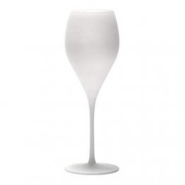 STÖLZLE LAUSITZ Champagnergläser Prestige 343 ml matt weiß 6 Stück I Sektkelche 6er Set Kristallglas I Champagnerkelche spülmaschinenfest & bruchsicher I wie mundgeblasen I höchste Qualität - 1