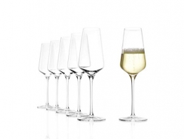 Stölzle Lausitz Champagnerkelch Starlight 290ml I Sektgläser aus Kristallglas 6er Set I Sektkelche spülmaschinenfest I Champagnergläser bruchsicher I hochfunktionelle Champagnerkelche - 1