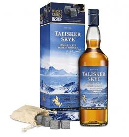 Talisker Skye Single Malt Whisky Geschenkpackung mit Whisky Steinen - 1