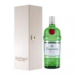 Tanqueray London Dry Gin mit Geschenk-Holzkiste - 1