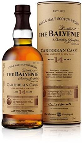 The Balvenie Carribean Cask Single Malt Scotch Whisky 14 Jahre mit Geschenkverpackung (1 x 0,7 l) - 1