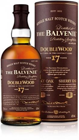 The Balvenie Doublewood Single Malt Scotch Whisky 17 Jahre mit Geschenkverpackung (1 x 0,7 l) - 1