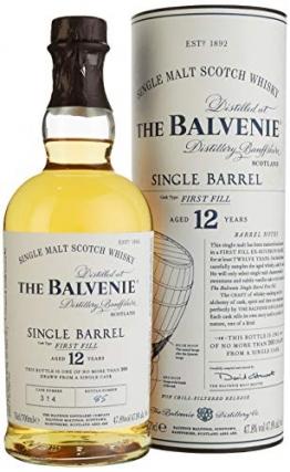 The Balvenie Single Barrel 12 Jahre Single Malt Scotch Whisky mit Geschenkverpackung (1 x 0,7 l) - 1