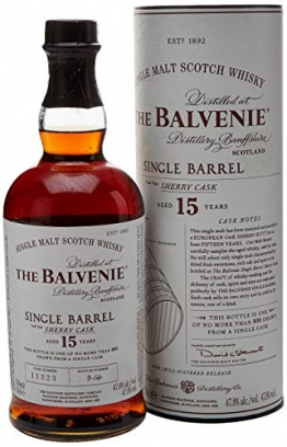 The Balvenie Single Barrell 15 Jahre Single Malt Scotch Whisky mit Geschenkverpackung (1 x 0,7 l) - 1
