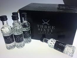Three Sixty Vodka Miniatur 0,04l 37,5% (24er Pack) - 1