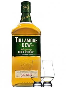 Tullamore Dew Blended Irish Whiskey 0,7 Liter + 2 Glencairn Gläser - 1