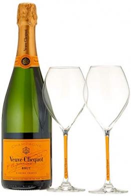 Veuve Clicquot Champagne Brut Yellow Label mit Geschenkverpackung und 2 Gläser (1 x 0.75 l) - 1